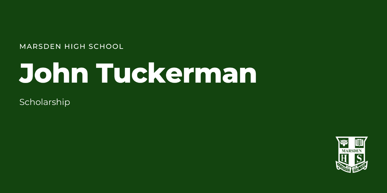 John Tuckerman Scholarship